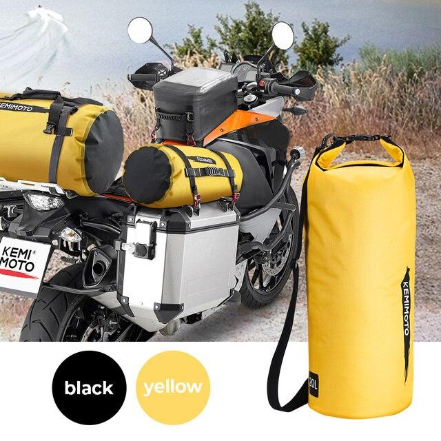 دراجة نارية حقيبة في الهواء الطلق بولي كلوريد الفينيل كيس جاف حقيبة مقاوم للماء 10L 20L 30L ، الكتف ، حقيبة ، الغوص ، السباحة ، المشي لمسافات طويلة القيادة أطقم سفر