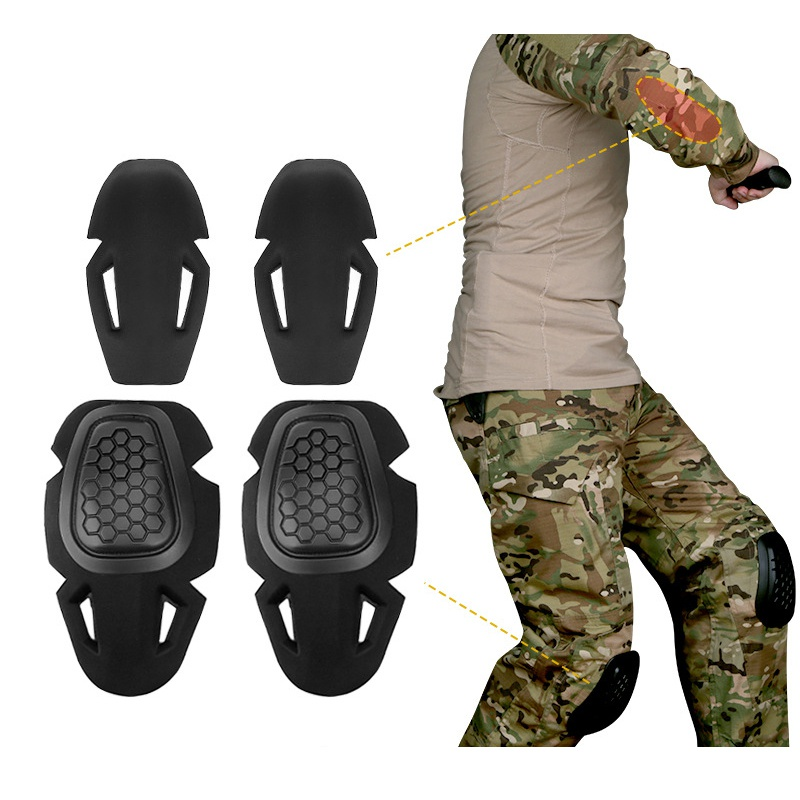4pcs/set Airsoft Hunting Protective Gear Knee Pads Elbow Pads Paintball Skate Scooter Kneepads Sports Safety Guard