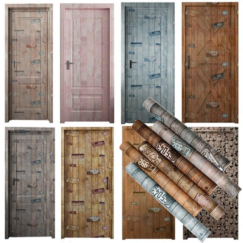 Creative Industry Stickers On The Doors Wallpaper For Door Living Room Bedroom Home Decor DIY Waterproof Wallpapers Deursticker
