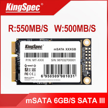 KingSpec mSATA SSD Solid State Disk SATA III 64gb 120gb 128gb 240gb 256gb 500gb 512gb 1tb Disco Rígido ssd para laptop netbook(China)