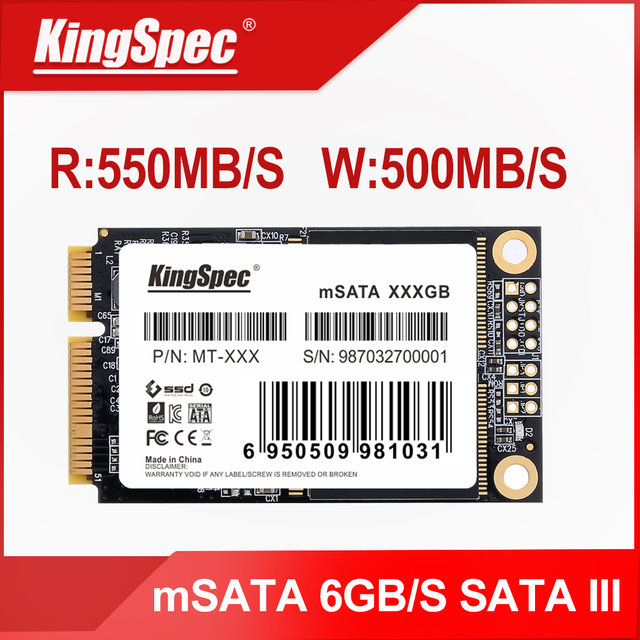 KingSpec mSATA SSD Solid State Disk SATA III 64gb 120gb 128gb 240gb 256gb 500gb 512gb 1tb ssd Hard Drive for laptop netbook