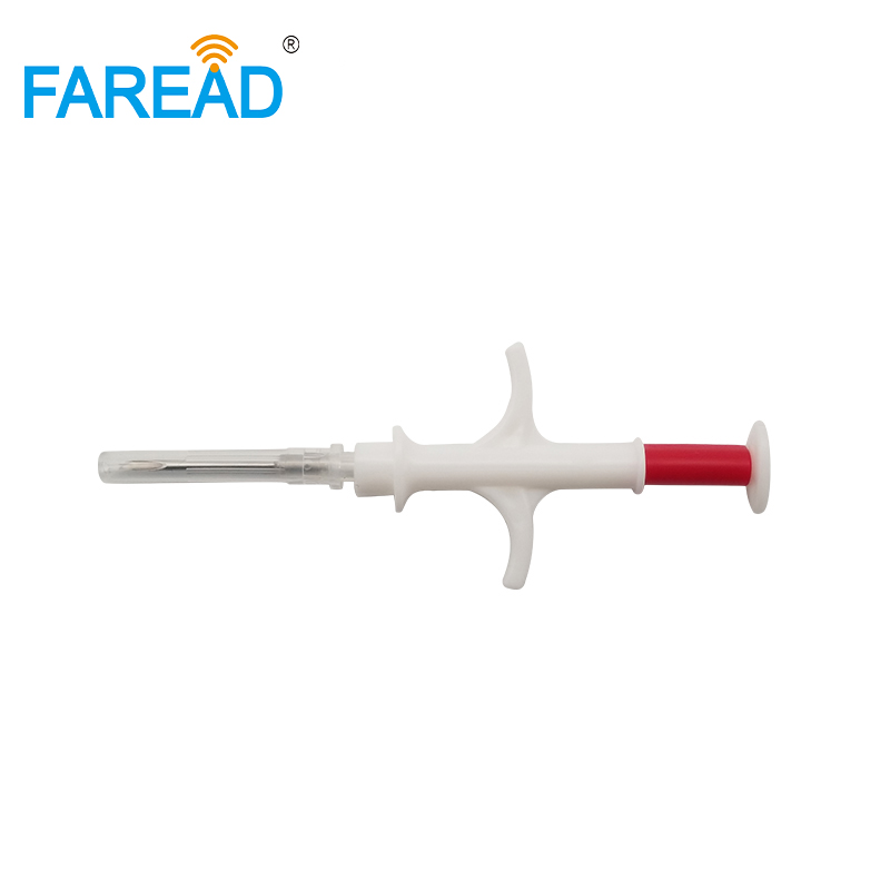 High Quality  ISO14443A Standard NFC Chip 2.12x12mm Sterilized Glass Tag Syringe 13.56MHz