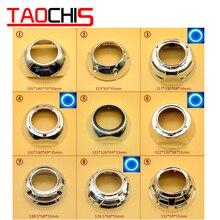 Taochis авто-Стайлинг бленда для объектива DIY для Hella 3 5 Q5 проектор Объектив оболочка хром с ангельскими глазами отверстия