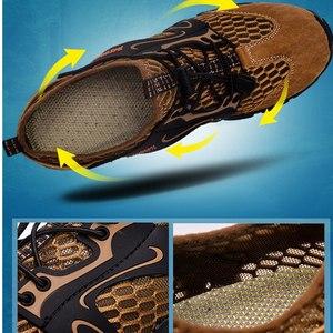 Image 2 - VEAMORS גברים סניקרס טרקים טיולים נעלי החלקה לנשימה טיפוס רשת זכר במעלה הזרם מים ספורט חיצוני סניקרס