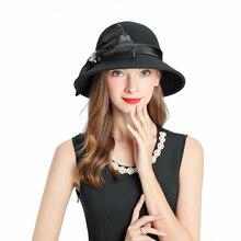 Fedoras Hat Black Fascinator For Women Elegant Church Wool Headpiece British Wedding Bridal Tea Party Jockey Club