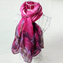 Women Printing Long Soft Paris Yarn Scarf Wrap Shawl Stole Pashmina Scarves Elegant Voile Scarf Ladies Long Scarves Stoles#10(China)