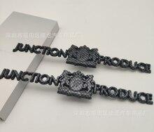 2x Carbon Fiber Abs Jp Knooppunt Produceren Vip Jdm Auto Embleem Badge Decal Stickers