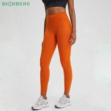 Классические 3,0 мягкие обнаженные брюки для тренировок и йоги shinхорошо сидят, женские спортивные Леггинсы с высокой талией для фитнеса