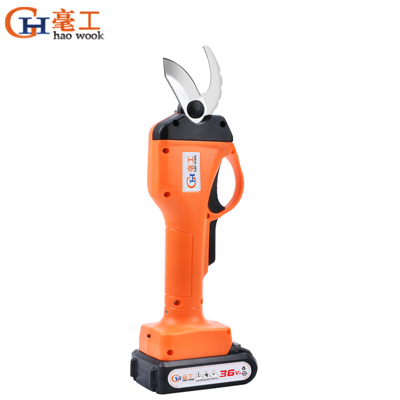 Haowook 2000mAh Cordless Electric Rechargeable Pruning Shears Secateur Branch Cutter Electric Fruit Garden Pruner Pruning Tool