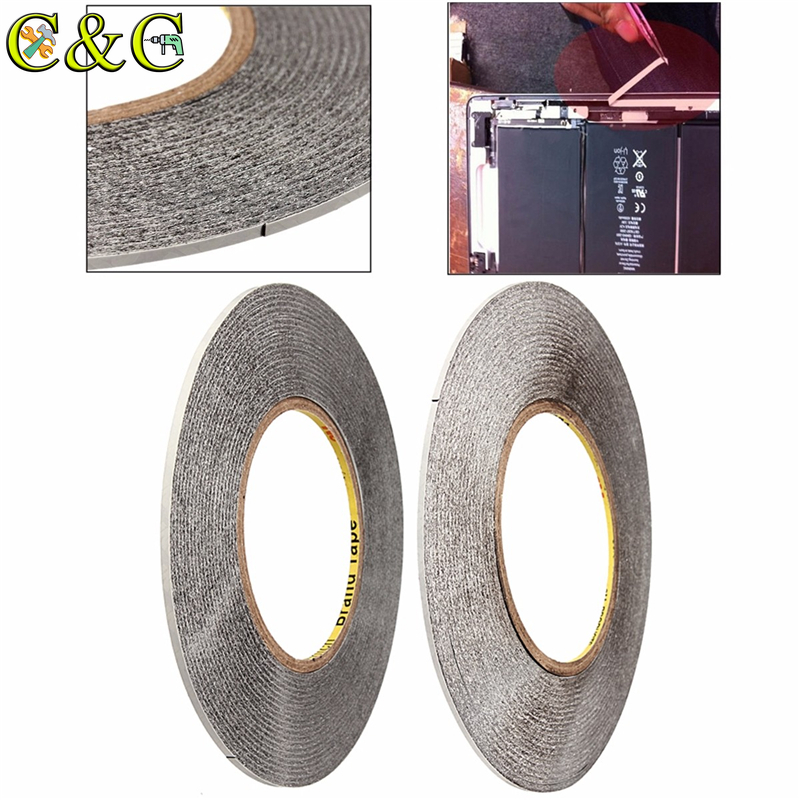 50M X 2/3MM Double Side 3M Adhesive Tape Fix For Repairing Touch Screen LCD For Cell Phone Repair Tape