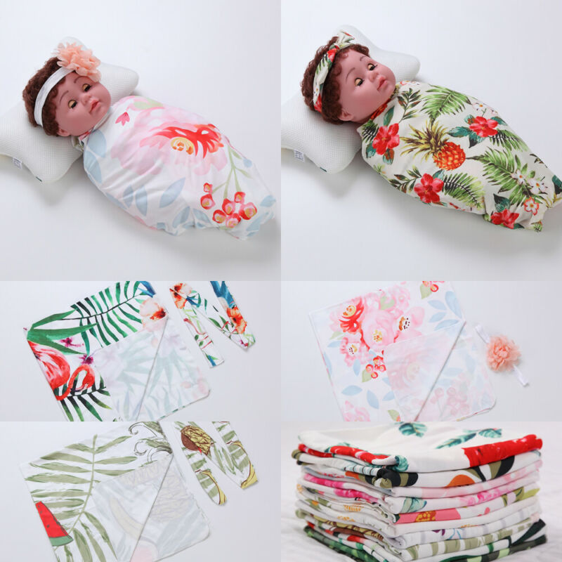 PUDCOCO Hot Fashion Soft Baby Infant Newborn Boy Girl Floral Swaddle Wrap Blanket Lovely Sleeping Bag Cloth