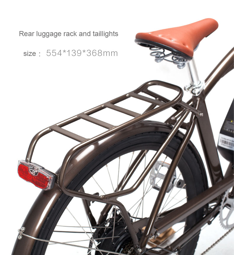 26inch electric bicycle  Lithium battery variable speed bicycle retro electric bicycle 48V City e-bike 3