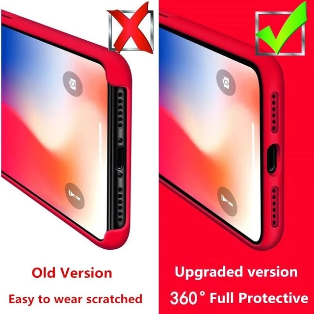 Official Original Silicone Case For iPhone 11 12 Pro MAX SE 2020 XR X 6 6s 7 8 Plus Cases For iPhone 12 mini XS Full Cover etui 4