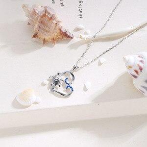 Image 3 - SG kolye kolye kadın takı 925 ayar gümüş kalp kolye kolye kaplumbağa moda parti takı 2019 yeni gelmesi