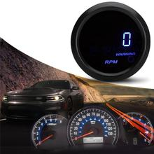 цена на Car Tachometer 2 52mm 0-9999 RPM Auto Gauge Meter Tacho With Blue LED Light, 12V Motorcycle Digital Tachometer Gauge