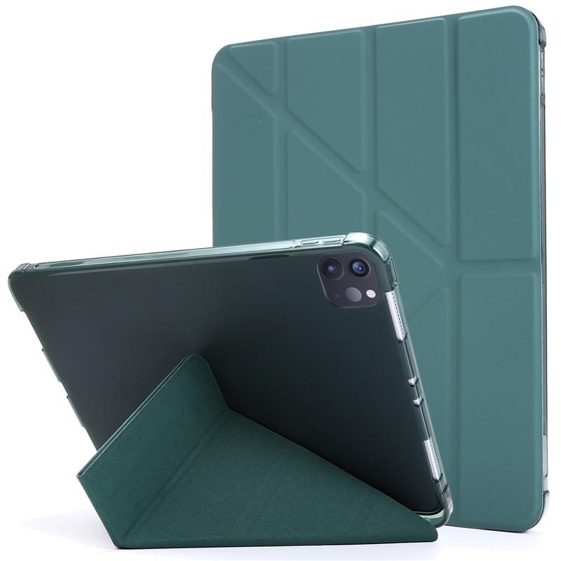 dark green Blue For iPad Pro 11 2020 Case PU Leather Soft Back Slim Smart Tablet Funda For iPad