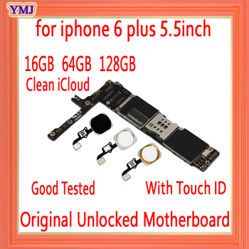 16GB 64GB 128GB for iphone 6 plus 5.5inch Motherboard With/Without Touch ID,Original unlocked for iphone 6 Plus 6P Mainboard