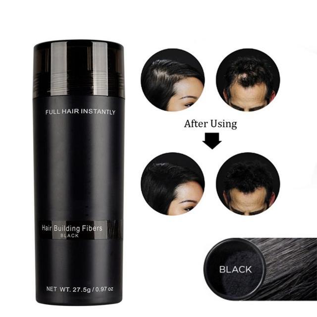Sıcak! Otantik Keratin saç lifleri sprey 27.5g 9 renkler tozu saç dökülmesi yapı Hairline doktoru yoğun saç büyüme TSLM2