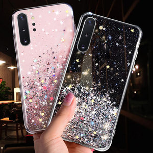 Bling Glitter Star Case For Samsung Galaxy A10 A20 A20S A30 A40 A50 A70 A80 A90 M10 S10E S10 S9 S8 A6 J4 J6 Plus A7 2018 Cover(China)