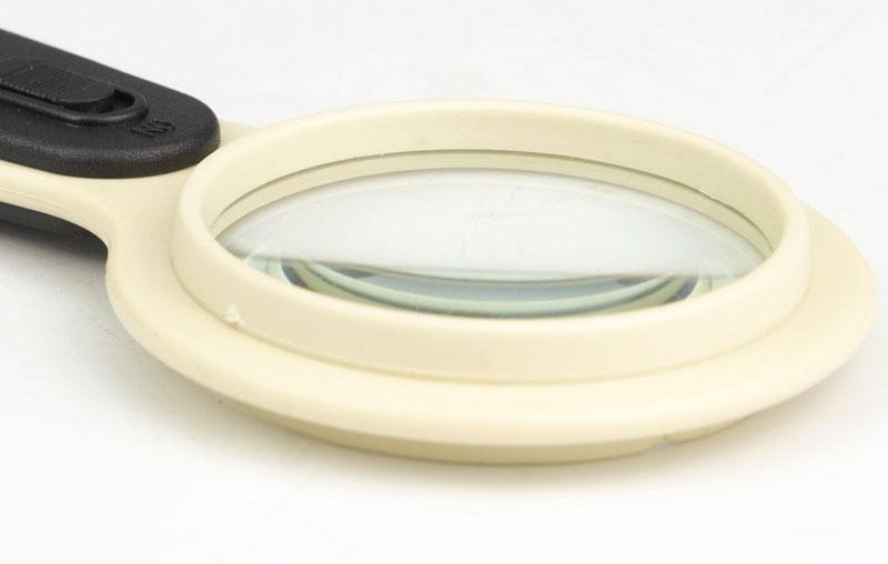 Лупа с прямой ручкой 5x60 мм, светодиодный светильник, CY-009, для чтения