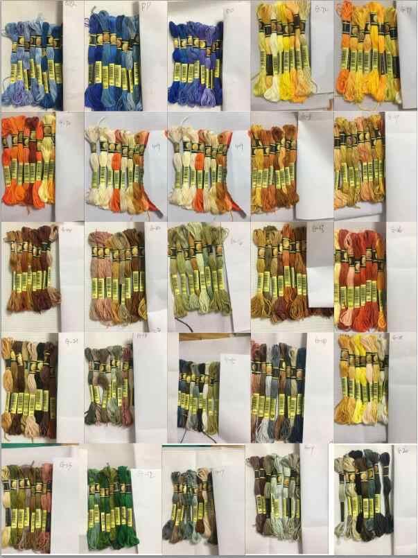 Cxc 8 ألوان عبر غرزة الموضوع التطريز الخيط الخياطة Skeins الحرفية سوار ذاتي الصنع مضفر