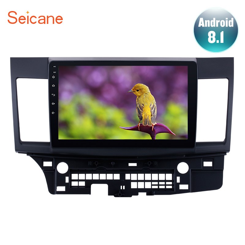 Seicane GPS Car 2Din Android8.1 Navi 10.1 Touchscreen HD Radio Stereo For Mitsubishi Lancer ex 2008 2009 2015 Multimedia Player