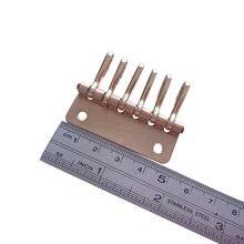 1 х Твердый латунный металлический держатель для ключей органайзер