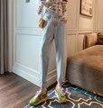 Джинсы с завышенной талией для женщин, шикарные элегантные свободные летние новые прямые брюки для похудения папы, универсальные брюки-сул...