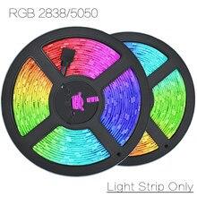 Diodo flexível da corda da fita da lâmpada da decoração da luz 5m 5050/2835 m 10m das tiras do diodo 12v rgb 7.5 somente nenhum impermeável para o festival