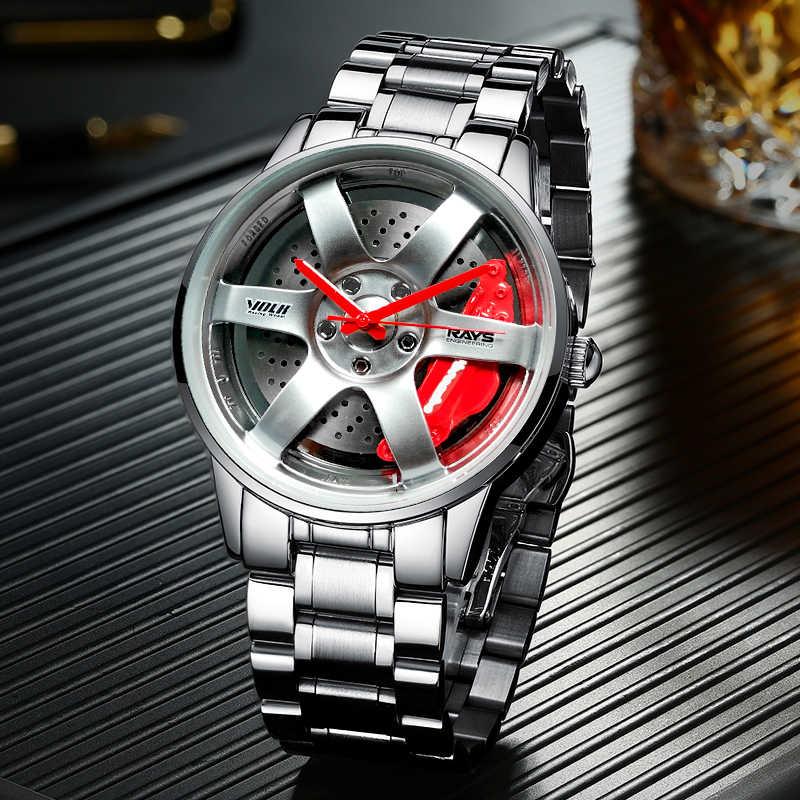Nektom relógios de pulso para carros, relógios masculinos, modelo personalizado, esportivo, à prova d'água, para pulso gtr gtr