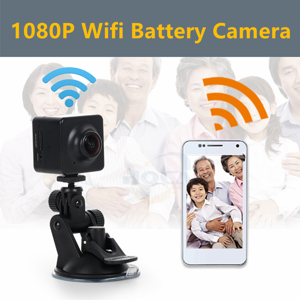 1080P Wifi auido battery Camera ip mini Push Video Stream to Youtube/Wowza by RTMP IP Camera H.265 H.264 2.0MP Live Streaming image