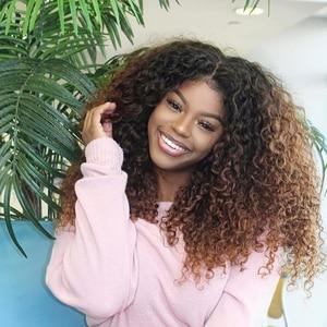 Image 2 - קינקי מתולתל פאות לנשים מלזי תחרה פאות 150% צפיפות שיער טבעי פאות 13X4 ISEE שיער קינקי קרלי תחרה קדמי שיער טבעי פאות