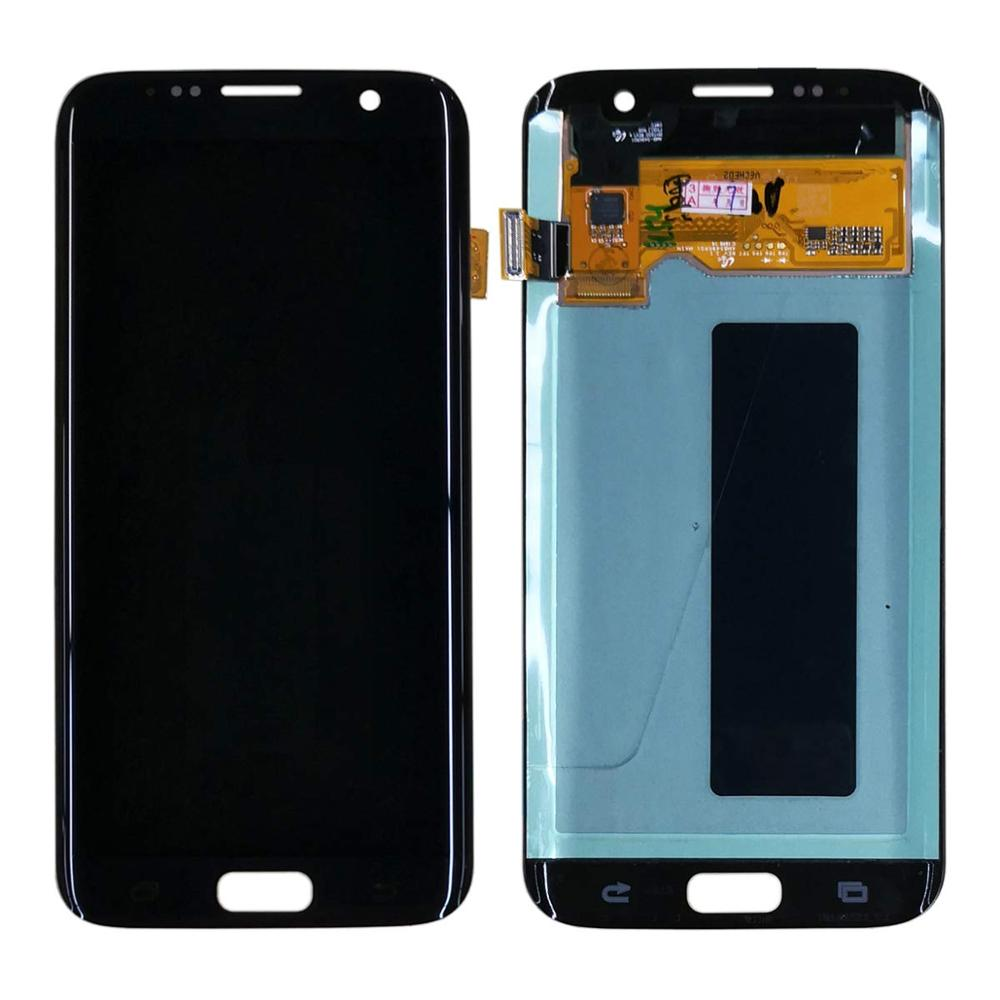 Original Super AMOLED 5.5'' Replacement Burn-Shadow Display For SAMSUNG S7 Edge G935 G935F LCD Touch Screen Repair With Frame