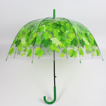 Przezroczysty parasol mały przezroczysty nowy długi uchwyt przezroczysty parasol farba do pieczenia parasol oryginalność liście klonu parasol tanie i dobre opinie Z tworzywa sztucznego Półautomatyczne Pongee Przesuwne 253147 Dorosłych Koszulka męska z długim uchwytem parasol plastics