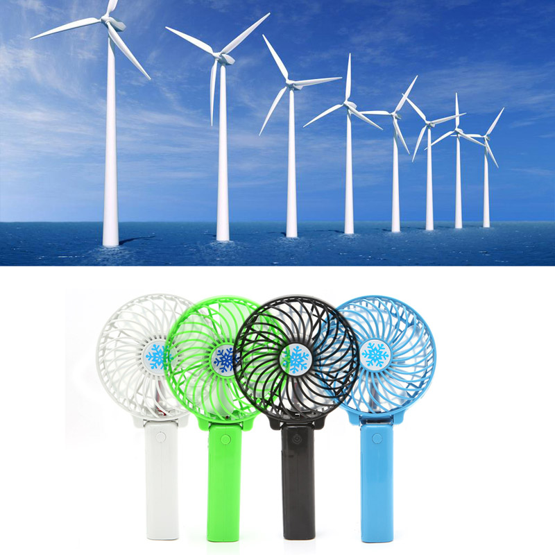 Foldable Handheld Mini Fan USB Power Rechargeable Battery Operated Hand Bar Fans Whosale&Dropship