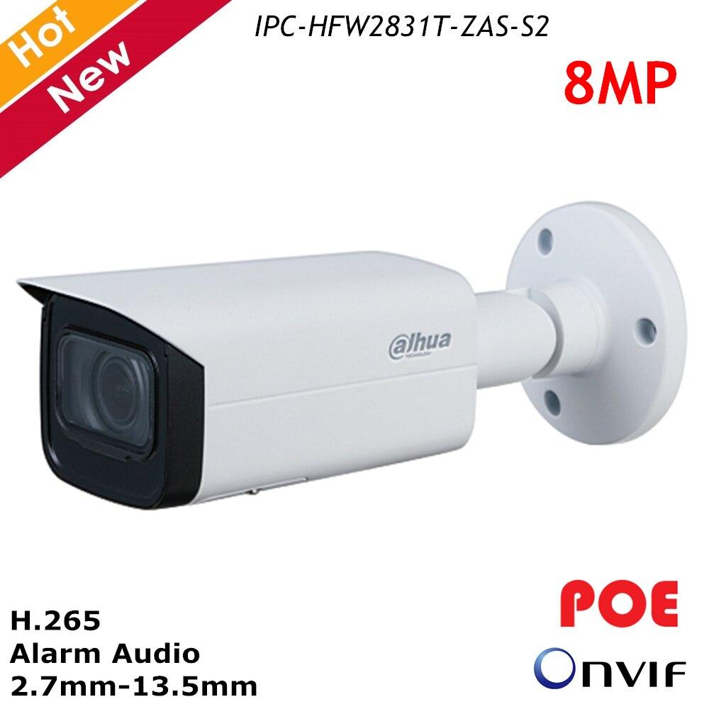Dahua H.265 Full HD 8MP Security Motorized IP Camera 4k Audio Metal Waterproof POE ONVIF Bullet Outdoor CCTV Surveillance Camera