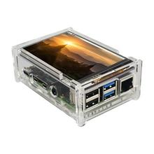 Raspberry Pi 4 дисплей 3,5 дюйма TFT сенсорный экран 480*320 ЖК дисплей + акриловый корпус для телефона Raspberry Pi 3 Model B 3B Plus