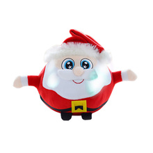 Party Singing Battery Powered Music Plush Toy Kids Gift Light Up Christmas Doll Decoration Ornaments Home Cute Universal
