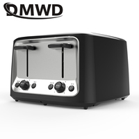 DMWD Household Electric Toaster Baking Bread Sandwich Maker Grill Breakfast Machine Toast Oven Heater 4 Slices Pieces EU US Plug