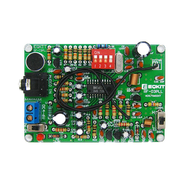 LEORY FM Stereo Transmitter Modul <font><b>MP3</b></font> Recorder <font><b>DIY</b></font> Radio Station <font><b>Kit</b></font> image