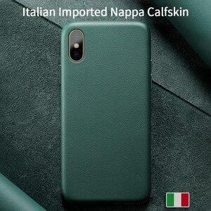 Image 1 - SanCore für iPhone X Xs Max Telefon Fall Leder Mode cellphoneFull schutz NAPPA Business Premium Shell Luxus Rindsleder Mann