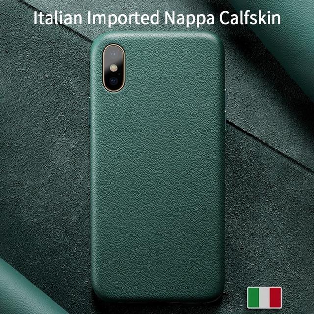 SanCore für iPhone X Xs Max Telefon Fall Leder Mode cellphoneFull schutz NAPPA Business Premium Shell Luxus Rindsleder Mann