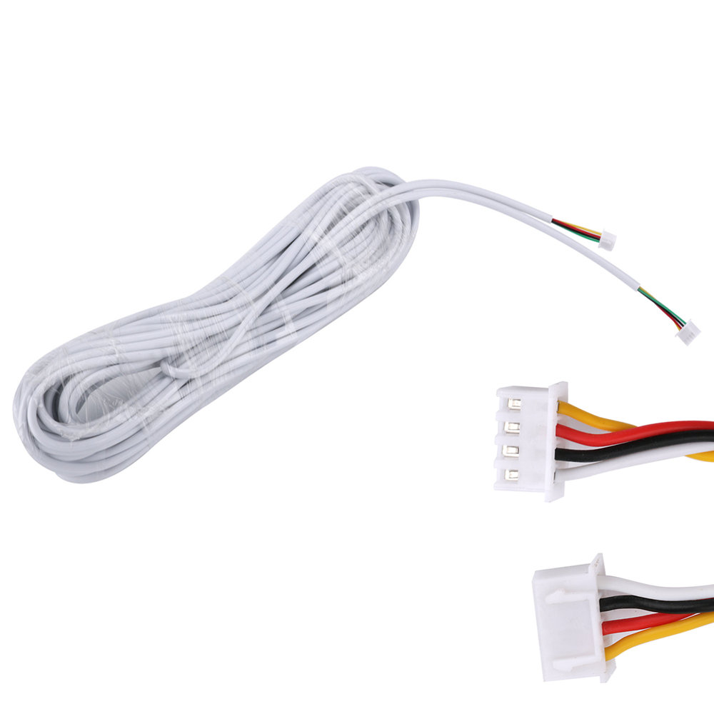 15M 2.54*4P 4 Wire Cable For Video Intercom Color Video Door Phone Doorbell Wired Intercom