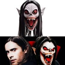 رينيصدى الكبار Morbius المعيشة مصاص دماء تأثيري كامل رئيس خوذة مصاص دماء قناع للهالوين زي مخيف Morbius قناع الرجال