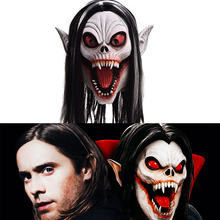 Reneecho Adult Morbius the Living Vampire Cosplay Full Head Helmet Vampire Mask For Halloween Costume Scary Morbius Mask Men