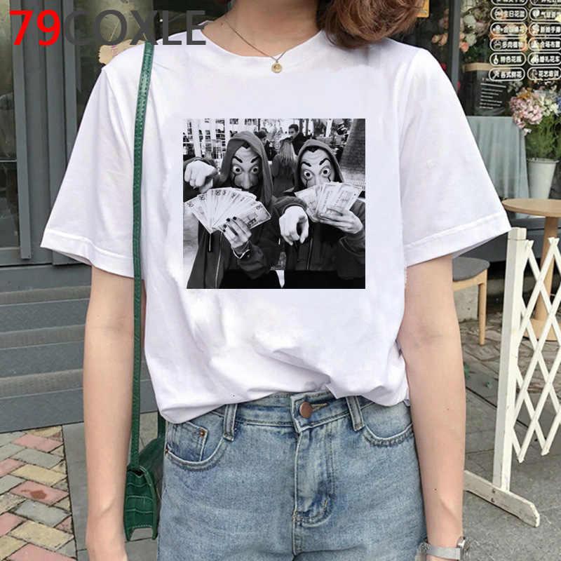 La Casa De Papel T-shirt hommes drôle De vol d'argent haut d'été T-shirt Bella Ciao t-shirts graphiques maison De papier T-shirt surdimensionné homme