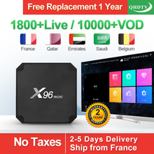 QHDTV 1 Year IPTV Box X96 Mini 2+16G Android 7.1 Arabic Belgium French Netherlands France Subscription Receiver