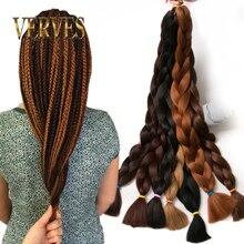Synthetic Braiding Hair 82 inch 165g/pcs pure color Braid Bu