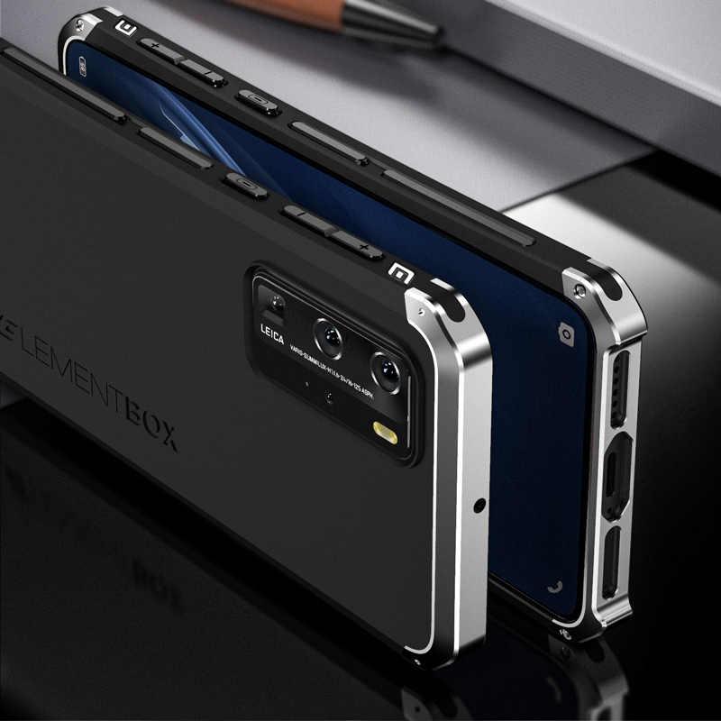 Baru Asli Mewah High-End untuk Huawei P40 Pro Case Bingkai Logam PC Frosted Cover untuk Huawei P40 case Tahan Guncangan Bumper