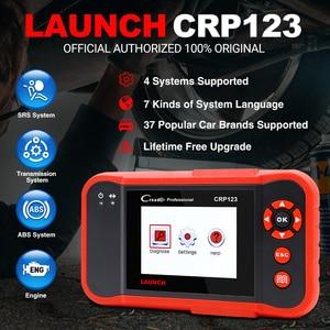 Image 2 - השקת Creader Crp123 OBD 2 אבחון כלי עבור ABS/SRS/תיבת הילוכים/מנוע מערכת OBD2 קוד קורא השקה crp123 PK NT650 Creade 8